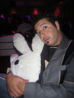 Alaa and His Bunny Pillow