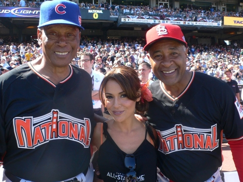 With Hall of Fame shortstops Ernie Banks and Ozzie Smith